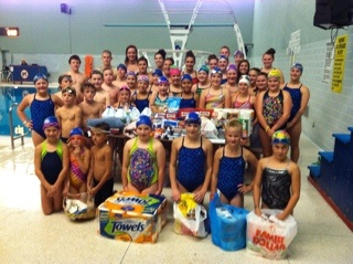 Swimmers donate